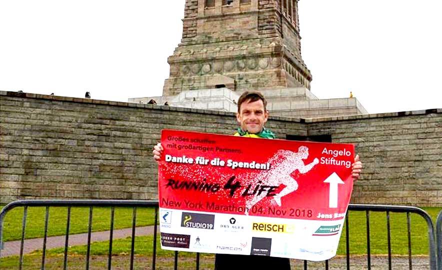 Jens Bauer nach dem New-York-Marathon